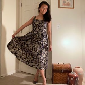 NWOT Francesca's Tea Length Floral Dress
